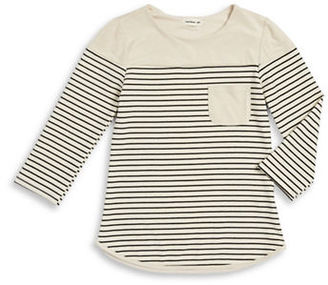 Sophia + Zeke Girls 7-16 Sueded Striped Top $35 thestylecure.com