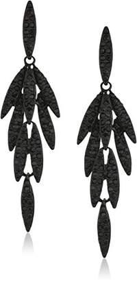 ABS by Allen Schwartz Black Magic Leaf Chandelier Drop Earrings