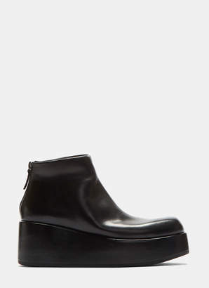 Marsèll Leather Zipped Platform Boots in Black