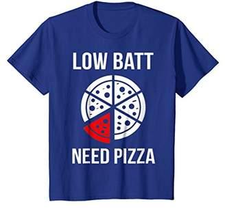 Low Batt Need Pizza Funny Pizza T-shirt