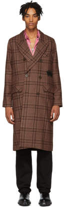 Stolen Girlfriends Club Brown Plaid Clean-Up Coat