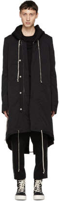 Rick Owens Black Fishtail Parka