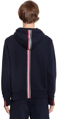 Thom Browne Hooded Cotton Jersey Sweatshirt