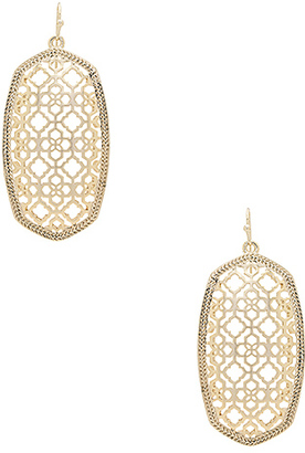 Kendra Scott Danielle Earring in Metallic Gold. $70 thestylecure.com