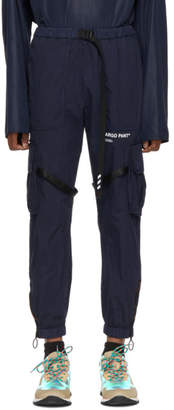 Off-White Navy Parachute Cargo Pants