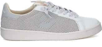Lotto Leggenda Autograph White And Grey Leather And Mesh Sneaker