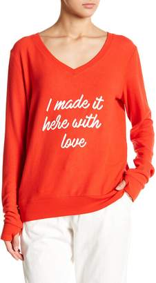Peace Love World With Love Pullover
