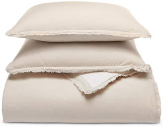 Martha Stewart Collection Whim by Collection Cotton Linen Reversible 3-Pc. Oatmeal King Comforter Set, Created for Macy's Bedding