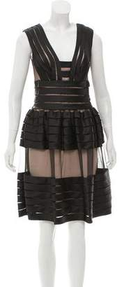 Temperley London Mesh-Paneled Cocktail Dress w/ Tags