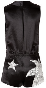 Marc By Marc JacobsMarc by Marc Jacobs Satin Stud Embellished Stars Playsuit