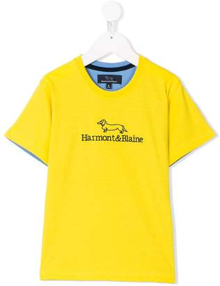 Harmont & Blaine Junior logo embroidery T-shirt