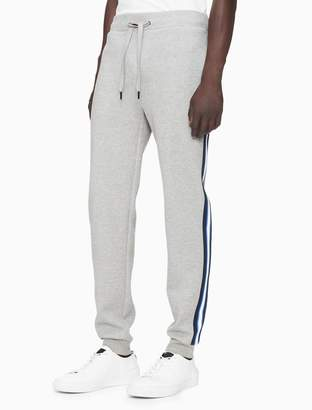 Calvin Klein regular fit stripe logo drawstring joggers