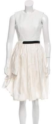 Jason Wu Sleeveless Leather-Accented Dress