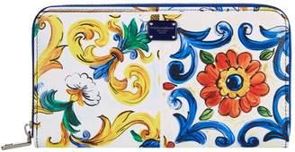 Dolce & Gabbana Majolica Zip-Around Wallet