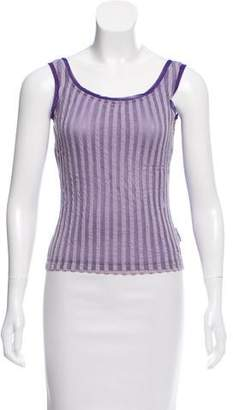 Gianfranco Ferre Sleeveless Mesh Top
