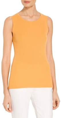 St. John Cashmere Rib Scoop Neck Shell