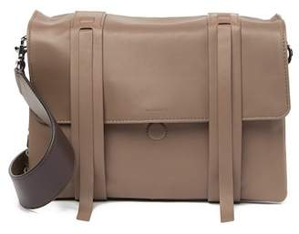 AllSaints Fin Lambskin Leather Messenger Bag