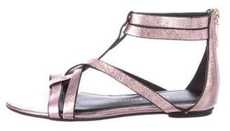Pierre Balmain Metallic Leather Sandals