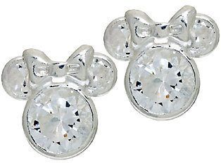 Disney 1.8cttw Diamonique Sterling Mickey or Minnie Stud Earrings $19.42 thestylecure.com