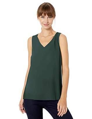 Lark & Ro Amazon Brand Women's Sleeveless Layering Tank - Crew and V-Neck
