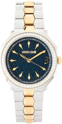 Roberto Cavalli RV1L024M0086 Silver-Tone & Gold-Tone Watch