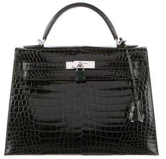 Hermes Crocodile Kelly Sellier 32