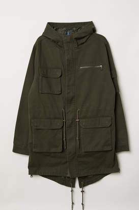 H&M Cotton Twill Parka - Green