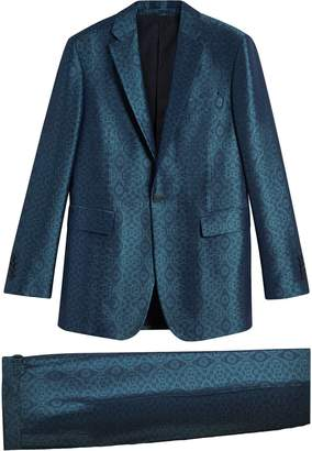 Burberry Soho-fit geometric suit