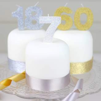 Clever Little Cake Kits Handmade Glitter Number Birthday Candle