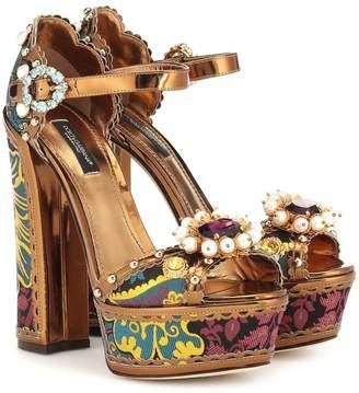 Dolce & Gabbana Keira embellished platform sandals