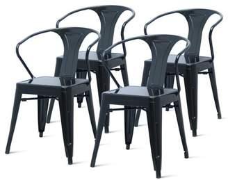 NPD Metropolis Metal Arm Chair, Black