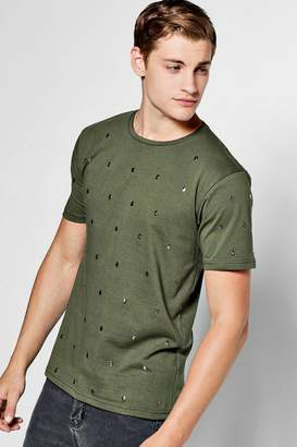 boohoo Skull Studded T-Shirt