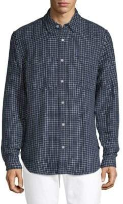7 For All Mankind Checkered Button-Down Shirt