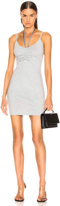 Alexander Wang Compact Ruched Dress in Heather Grey | FWRD