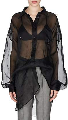 Maison Margiela Women's Cotton Organza Oversized Shirt