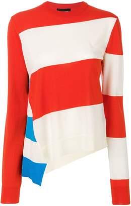 Calvin Klein asymmetric striped jumper