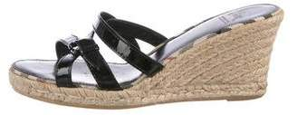 Burberry Crossover Espadrille Wedges
