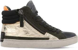 20mm Metallic Leather & Suede Sneakers