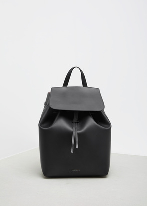 Mansur Gavriel black / flamma backpack $895 thestylecure.com