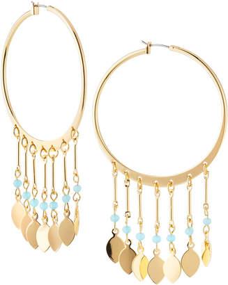 Lydell NYC Multi-Drop Hoop Earrings