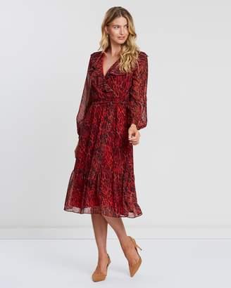 Wallis Animal Print Midi Fit-and-Flare Dress