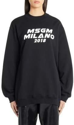 MSGM Cutout Logo Sweatshirt