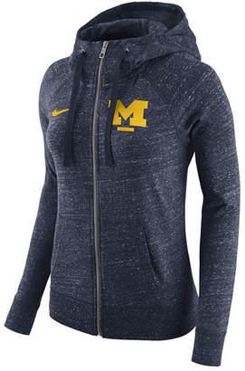 Nike Women's Michigan Wolverines Gym Vintage Full-Zip Hoodie