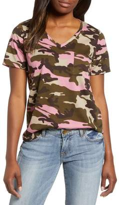 Caslon Camo V-Neck Tee (Regular & Petite)