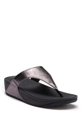 482ce34669d ... FitFlop Lulu Faux Leather Thong Wedge Sandal