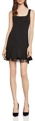 BCBGMAXAZRIA Flounced Crepe Mini Dress
