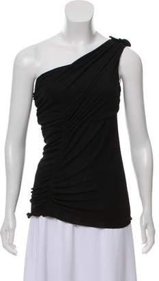 Alberta Ferretti Sleeveless One-Shoulder Top