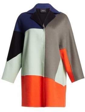Akris Cashmere Patchwork Coat
