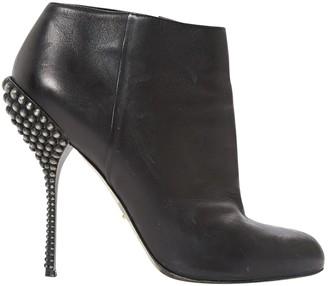Sergio Rossi Black Leather High Heel