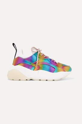 Stella McCartney Eclypse Iridescent Faux Leather And Neoprene Sneakers - Purple